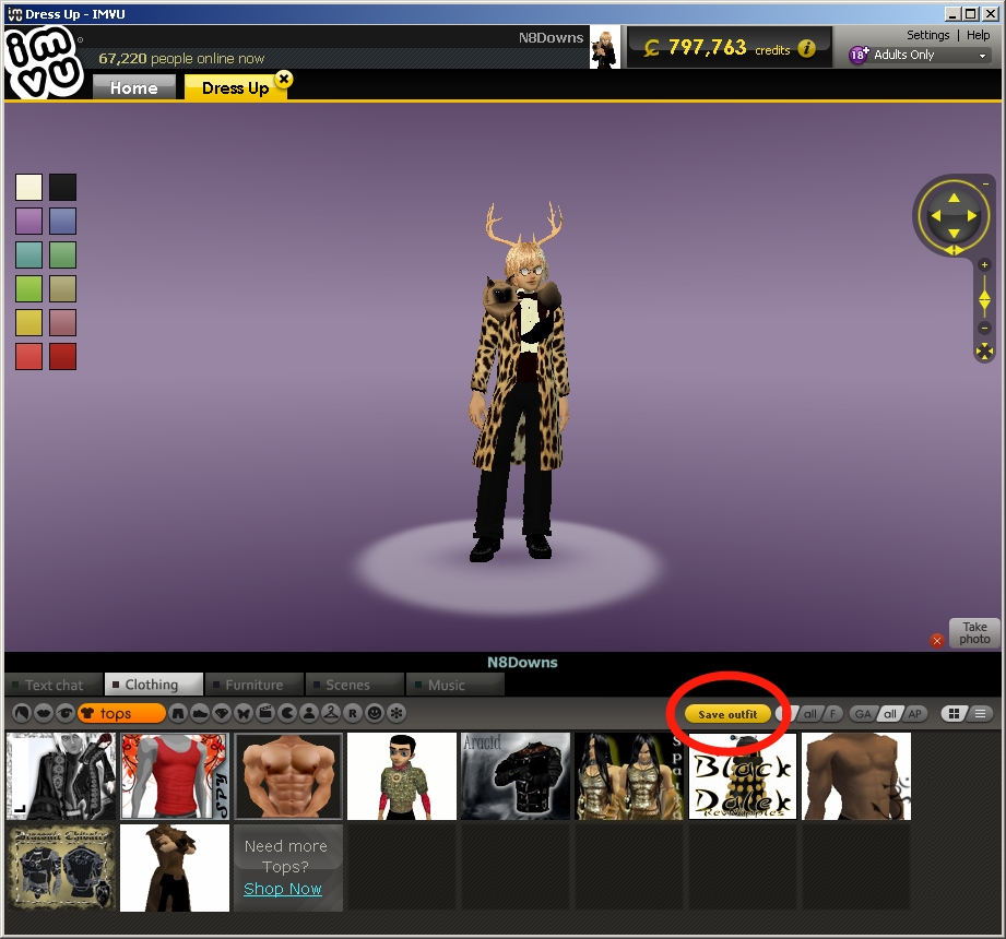 How To Make A New Room A Default In Imvu